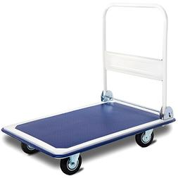 Giantex 660lbs Platform Cart Dolly Folding Foldable Moving W