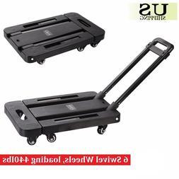 440lbs Platform Cart Dolly Folding Moving Luggage Push Hand