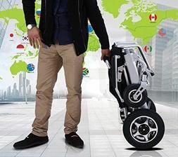Portable Electric Wheelchair Folding Heavy Duty Lightweight