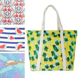 Printed Shoulder Handbag Purse Shopping Heavy Duty Zippered