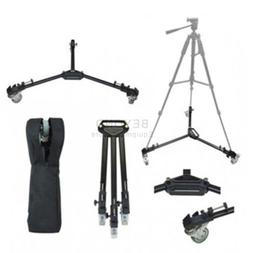 Professional Camera Tripod Dolly Folding Heavy Duty Wheels C