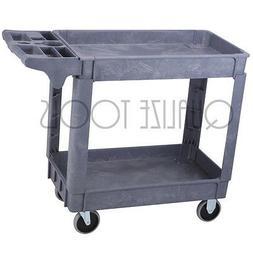 QUALIZE Heavy Duty Two Shelf Industrial Polypropylene Utilit