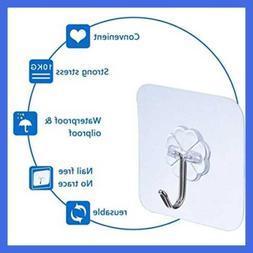 Reusable Adhesive Wall Hooks 22 Lbs/Heavy Duty Hanger Sticke