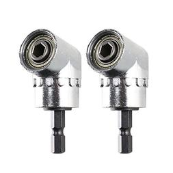 """Dayree 2pcs 105 Degree Right Angle Driver 1/4"""" Extension Hex"""