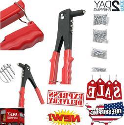 Rivet Gun Set Heavy Duty Hand Tool Pop Riveter Kit Gutter Ca