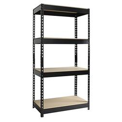 Riveted Steel 4-shelf Shelving Unit Model#17125