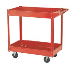 Rolling Heavy Duty Utility Metal Cart 2 Shelves Service Gara