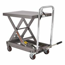 Rolling Table Cart 500LB Capacity Hydraulic Cart W/Foot Pump