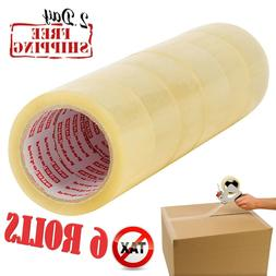 Moving & Storage Packing Tape 6 Rolls Shipping Packaging Hea