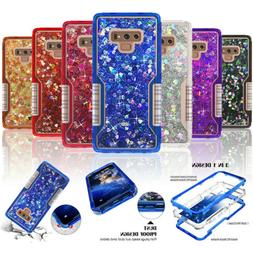 For Samsung S8 S9 Plus Note 9 8 Heavy Duty Quicksand Glitter
