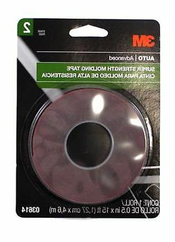 "3M Scotch Mount Super Strength Molding Tape .5"" x 15 ft Tape"