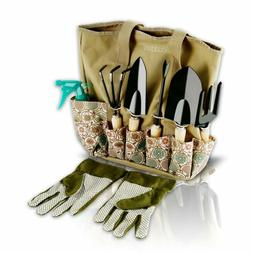 Scuddles Garden Tools Set - 8 Piece Heavy Duty Gardening too