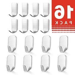 Self Adhesive Wall Hooks Hanger - Bathroom Stainless Steel H