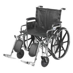 Drive Medical Sentra Extra Heavy Duty Wheelchair, Detachable