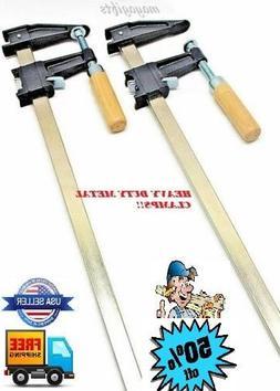 Set Of 3 - 36''Clutch F Clamp Heavy Duty Bar Clamp Quick Rat