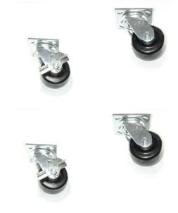 Set of 4 Heavy Duty Albion 16 Series Phenolic Casters with 4