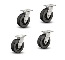 """Set of 4 Heavy Duty Albion 16 Series Swivel Casters with 8"""""""