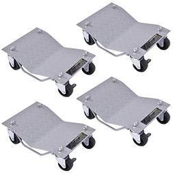"""Goplus 4 PCS 4 X 3"""" Set Wheel Dollies Dolly Tire Skates Vehi"""