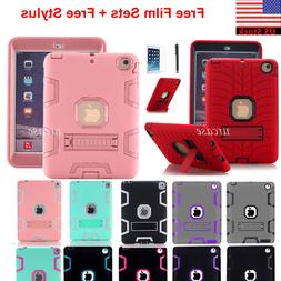 Shockproof Heavy Duty Rubber w/ Stand Case Cover Fr iPad Air