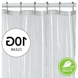 shower curtain liner clear with mesh header vinyl resist mil