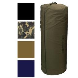 Side Zipper Canvas Duffle Bag, Military Duffel Heavy Duty Co