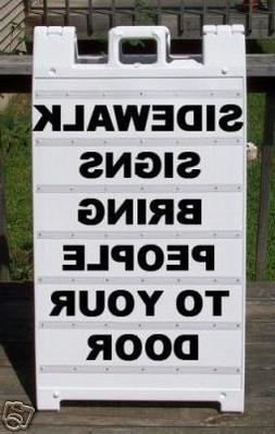 Sidewalk A-Frame Heavy Duty Plasticade 2 Sided Message Board