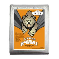 Grizzly Tarps 8 x 10 Feet Silver Heavy Duty Multi Purpose Wa