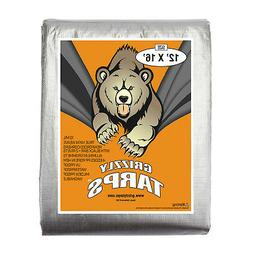 Grizzly Tarps 12 x 16 Feet Silver Heavy Duty Multi Purpose W