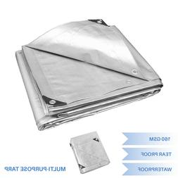 Silver Heavy Duty Multi-purpose Waterproof Poly Tarp Cover T