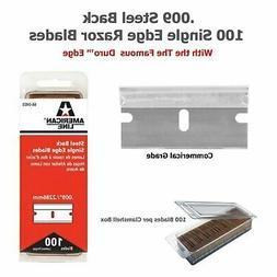 American Safety Razor 66-0403 Single Edge 0.009 Steel Back R
