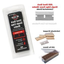 single edge razor blades 100 pack heavy