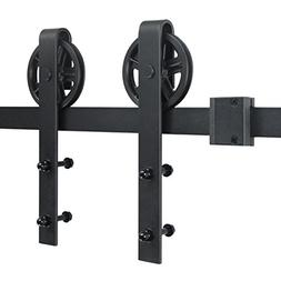 SMARTSTANDARD 6.6 FT Heavy Duty Sliding Barn Door Hardware K
