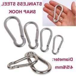 Stainless Steel Snap Hook Carabiner Clips ~ Snap Spring Hook