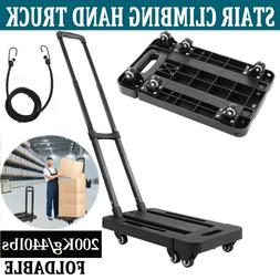 Stair Climbing Climber Hand Truck Dolly Cart Trolley w/ Back
