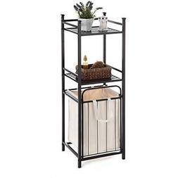 Standing Shelf Units 2 Teir Shelving Bathroom Space Saver Wi
