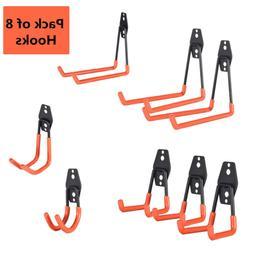 Steel Garage Storage Utility Double Hooks, Easy to Install W