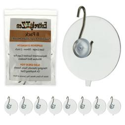 Super Strong 8pc Suction Cup Hooks 50mm - 2 Inch Heavy Duty