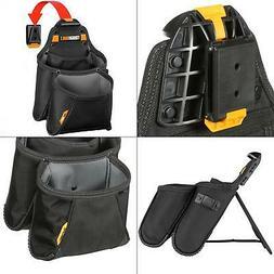 TOUGHBUILT Supply Pouch Black ClipTech Belt Tool Bag Electri