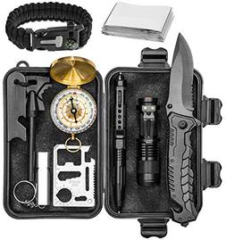 Survival Gear Emergency Kit – Essential Survival Kit w/Com