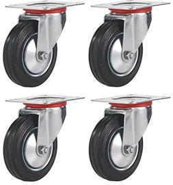"Online Best Service 3"" Swivel Caster Wheels Rubber Base with"
