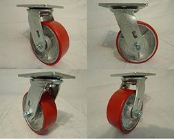 "5"" X 2"" Swivel Casters Heavy Duty Polyurethane Wheel on Stee"