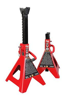 Torin Big Red Steel Jack Stands: Double Locking, 6 Ton Capac