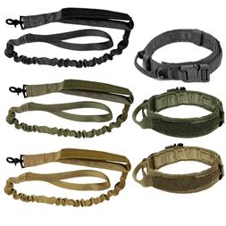 LIVABIT Tactical K9 Dog Collar or Leash Harness Strap Traini
