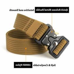 Tactical Belt Heavy Duty Military Durable Nylon Army Quick-R