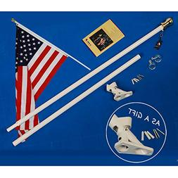 A-One 6Ft Tangle Free Spinning Flag Pole, Deluxe Aluminum Am