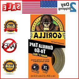 GORILLA TAPE 1 INCH X 30 FEET Heavy Duty Black Duct Tape