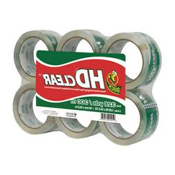 "Duck HD Packaging Tape, 1.88"" x 54.6 yd, Crystal Clear, 6 Ro"