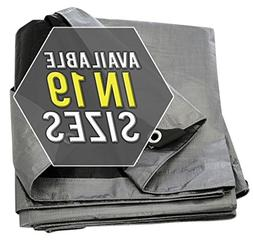 Tarp Cover Silver/Black Heavy Duty Thick Material, Waterproo