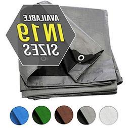Tarp Cover Silver / Black Heavy Duty Thick Material, Waterpr