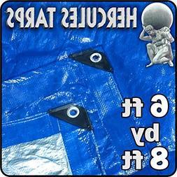 6' x 8' - Tent Shelter Tarp Cover Waterproof Tarpaulin Plast